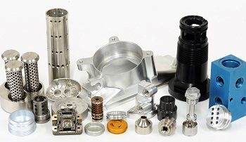 Assorted Metal CNC machined components from high-volume machining
