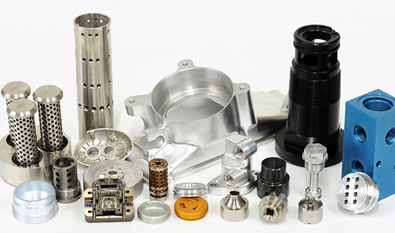 Assorted CNC machined parts including; production machining, surface and form grinding
